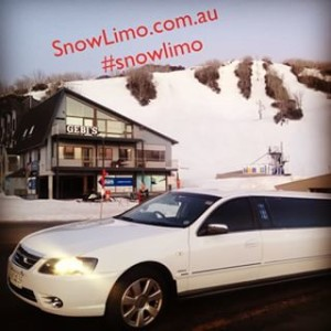 stretch limousine at Falls Creek